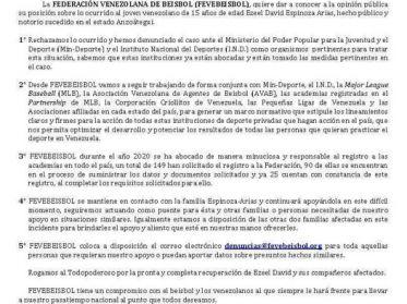 COMUNICADO OFICIAL FEVEBEISBOL 26 de diciembre 2020