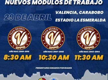 Team Beisbol Venezuela comienza evaluaciones selecciones Sub12, Sub14 y Sub18